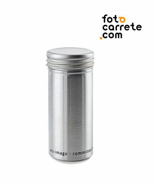 contenedor bote de alumiinio para roolos 120mm formato medio en blanco y negro o color